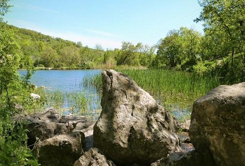 Краснокаменское озеро в Крыму